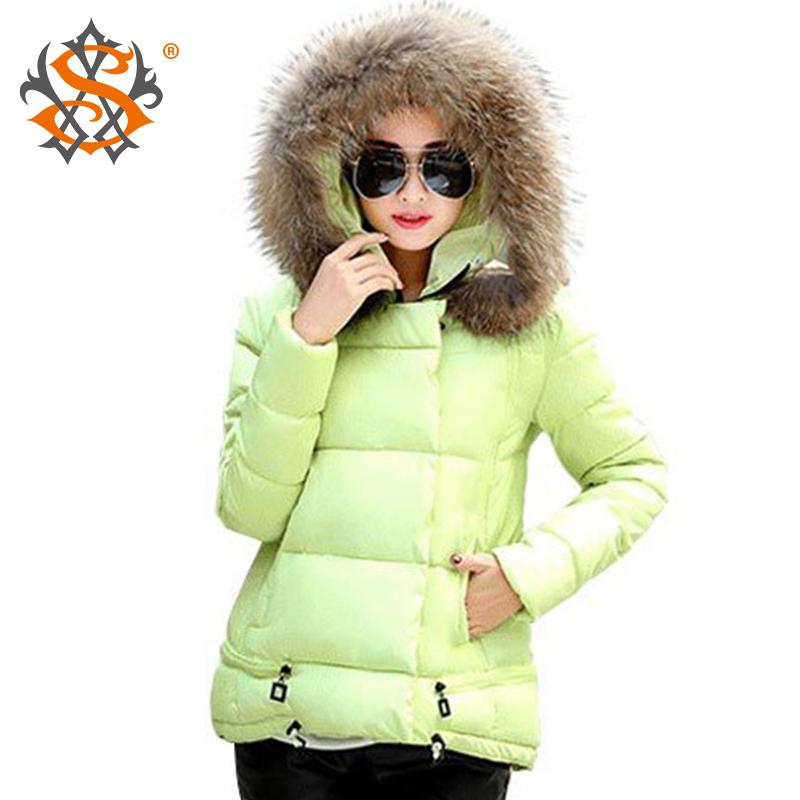 Women's Down & Parkas Coats 2015 Fashion Cotton-Padded Winter Coat Fur Collar Warm Slim A-Line Down Jacket  Plus Size XXXL z43