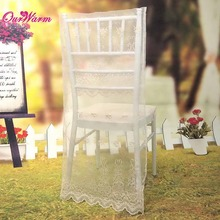 10Pcs/lot Lace Embroidery Wedding Party Chair Covers Organza Chiavari Chair Cover Wedding Chair Decoration Covers 3 Colors(China (Mainland))