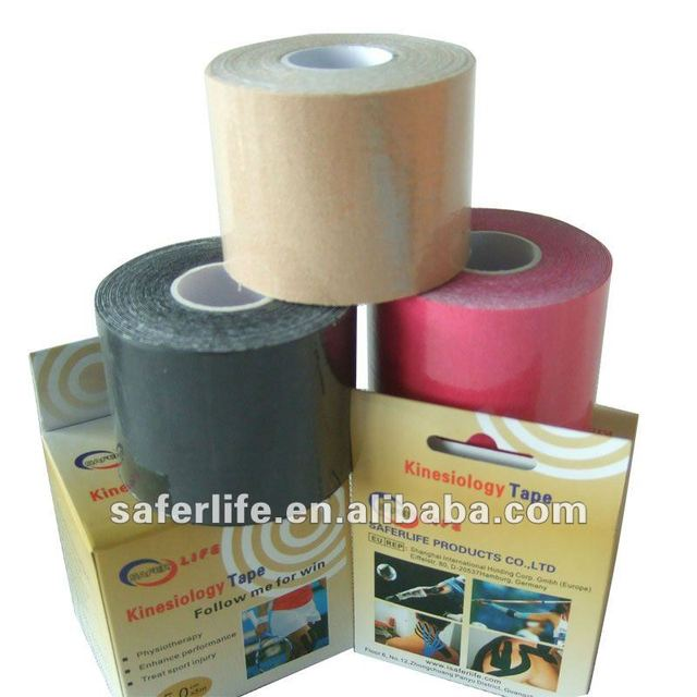 "10% Off discount Elastic Sports Kinesiology Tape 2"" W x 16.4' L w individual box muscle therapy"