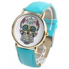 2014 New Wholsale Design Women Dress watches Quartz Watch fashion SKULL Watch Ladies Men Sport Watch Free shipping#L05619