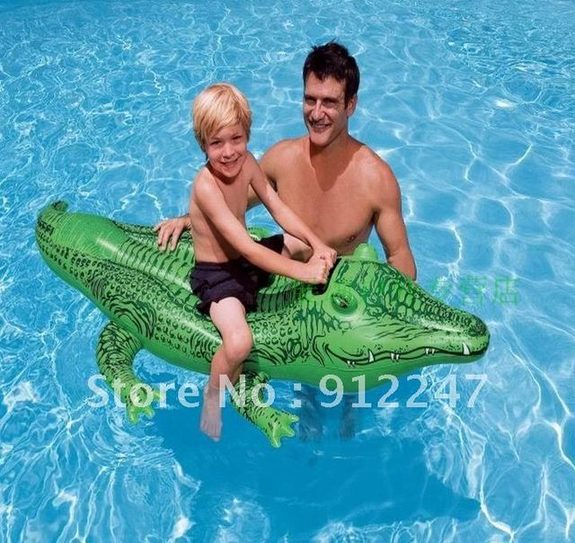 free shipping INTEX 58546 Crocodile mount floating inflatable water swimming toy toys Children's water row for children kids