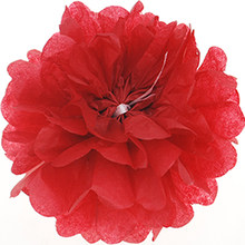 Pompon de papel tisú Pom bolas de flor de pompones para la decoración de la habitación de la boda suministros de fiesta papel para manualidades diy flor(China)