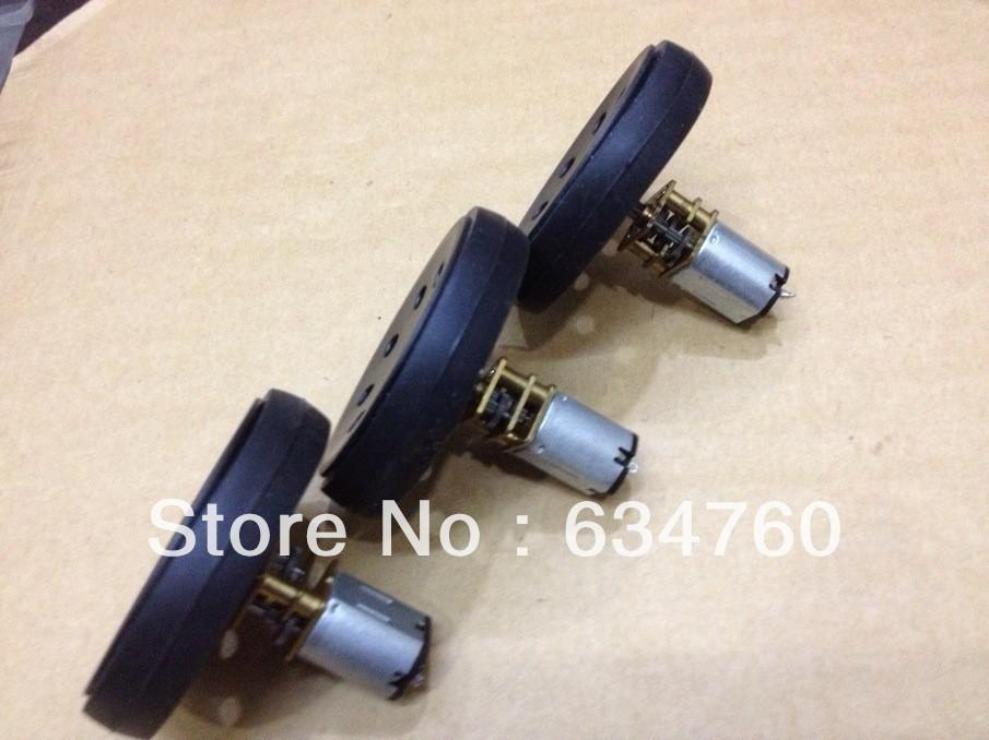 Spot supply 3-4.5V 12GBN20 gear motor + toy wheel DC motors - czmotor store