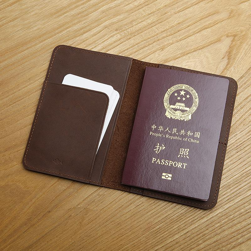 Leather passport package quality tanned tree lamb skin graft ticket clip to manual head layer cowhide certificate package(China (Mainland))