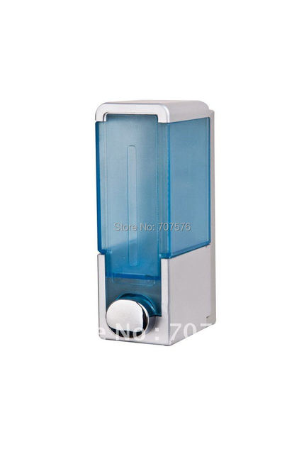 350ml European style Bathroom Rectangle Manual Single soap dispenser Hotel Home Plastic Liquid Shampoo Box TSD26  white