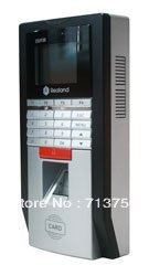 Biometric Fingerprint Access Control Time Attendance System Silver Tcp Ip ID card Free shipping