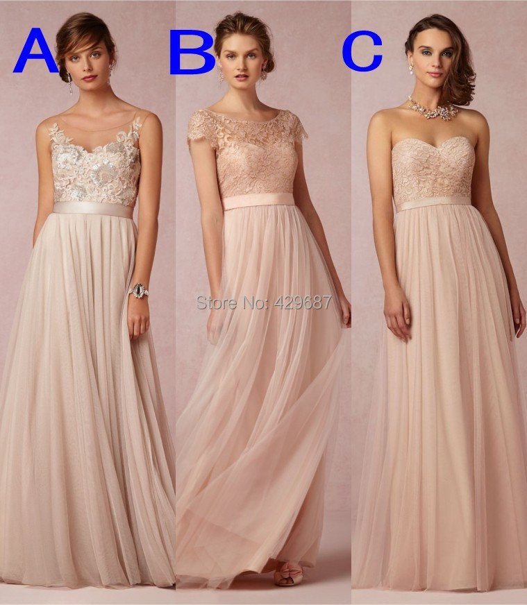 Plus size lace 2016 maid of honor blush coral custom made for Plus size coral dress for wedding