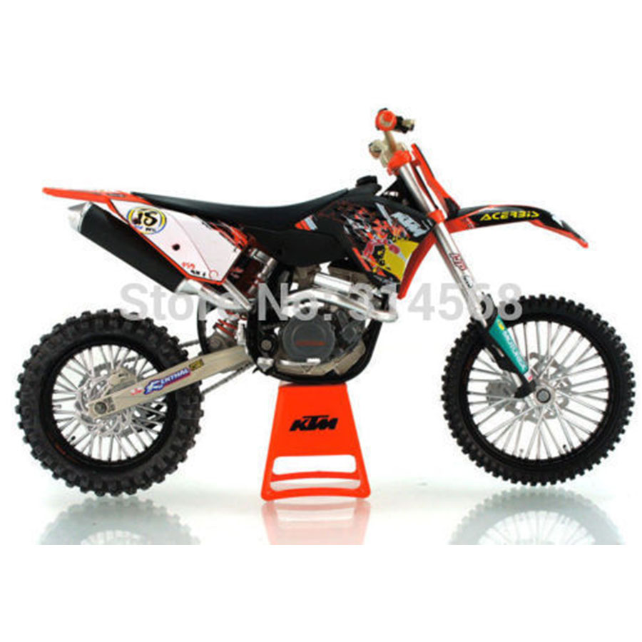 Collctible Mini Model Moto 1:12 Motocross Figure Gifts Graffiti Motorcycle Model KTM 450 SX F Vehicles Diecast Metal Kids Toys E(China (Mainland))