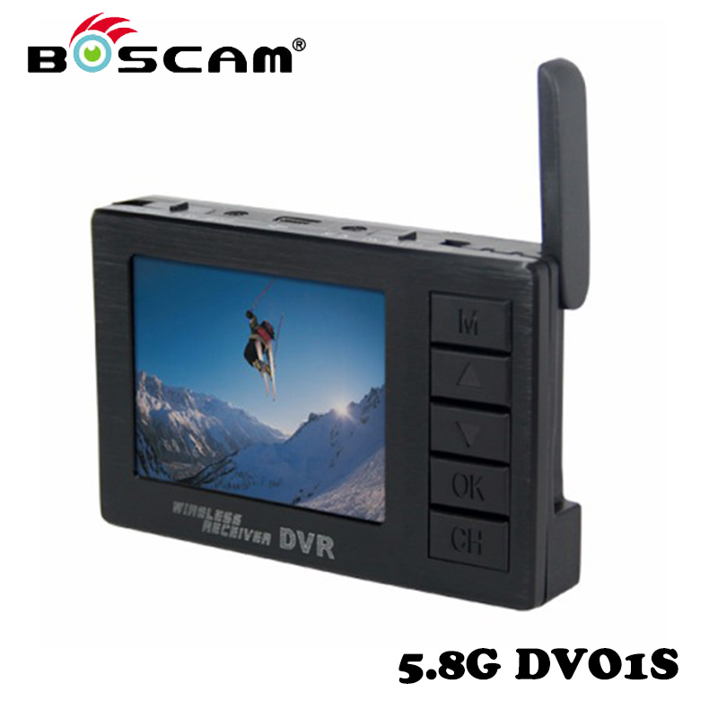 Original BOSCAM DV01S 8 Channel Mini Video Camera 2.4 inch Display5.8GHz Wireless Receiving DVR For RC Drone Fast Shipping