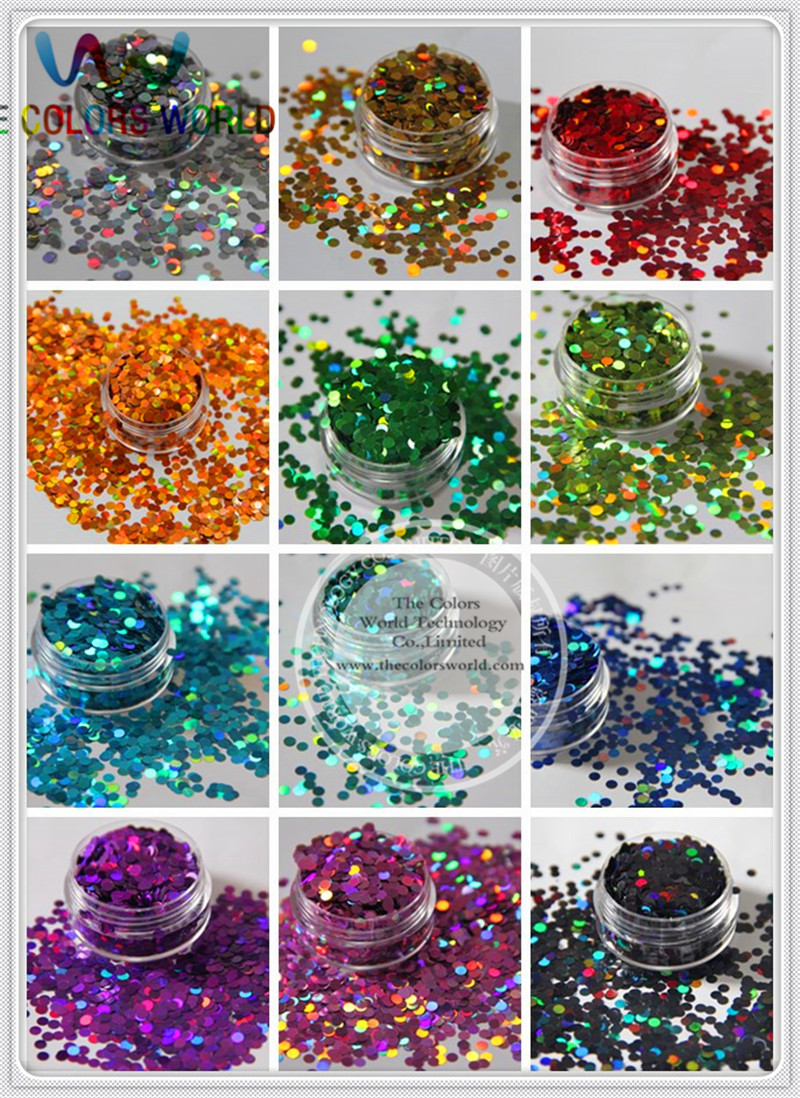 buy 12 holographic circle disco dot shape sequins paillette for nail decoration. Black Bedroom Furniture Sets. Home Design Ideas