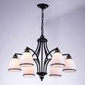Retro Light Glass Chandelier For Living Room Kitchen Stair Hallway Lamp White Lampshade Decor Home Lighting