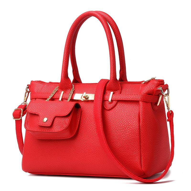 Platinum bag 2016 European and American fashion famous brand handbags Women's high quality PU leather shoulder bag Messenger bag