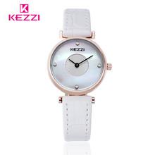 2016 new fashion women watches KEZZI shell dial analog quartz watch multicolor leather strap women wristwatch reloj mujer k1310