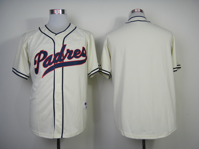 Lower Price San Diego Padres Mens Jerseys Blank Ivory Throwback Baseball Jersey Embroidery And Sewing Logos Size M-3XL<br><br>Aliexpress