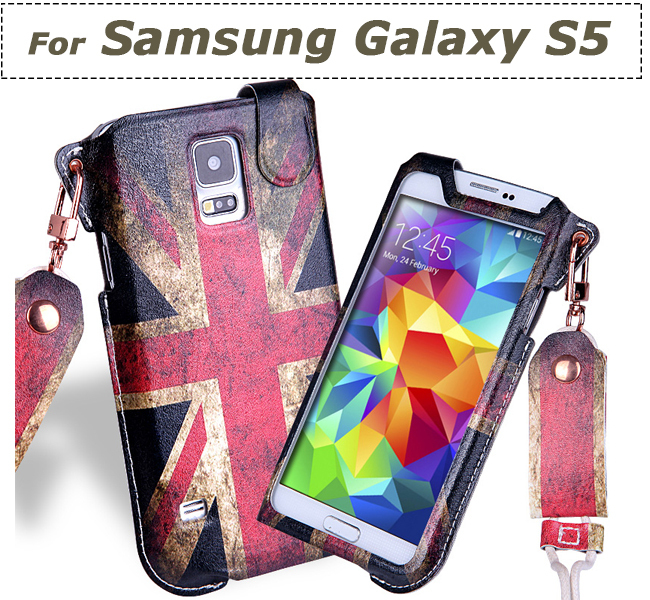 Mobile Phone Bag with Neck Strap case cover holder sock pouch skin sleeve For Samsung Galaxy S5 Pull Tab Pouch(China (Mainland))