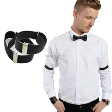retail 2016 men Shirt Sleeve Holder adjustable Armband Elasticated wedding bridegroom accessory  wholesale(China (Mainland))