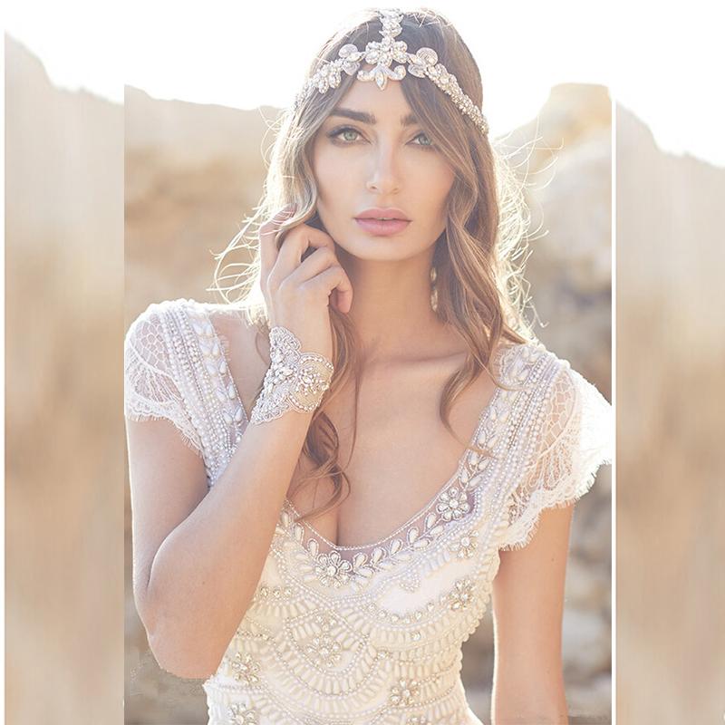 Crystal Hochzeitskleid Summer Bohemian Beach Wedding Dresses Boho ...