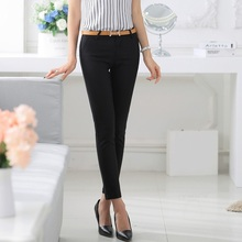 2016 Spring Summer Casual Fashion Women Pencil Pants OL Office Ladies Trousere Slim Elegant Black - Shenzhen eMart Technology Co., Ltd store