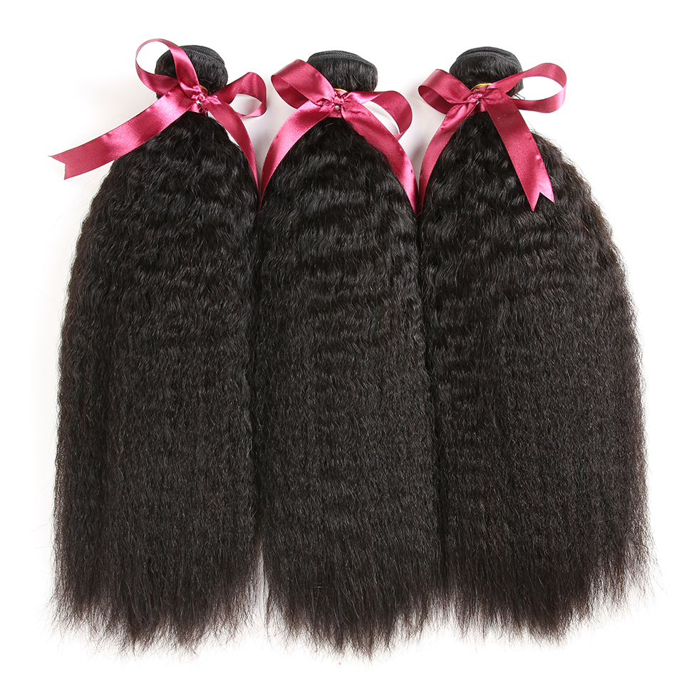 Karizma Brazilian Yaki Straight Hair Weave Bundles 1 Piece Non Remy Hair Extensions 8-28inch 100% Human Hair Weaving