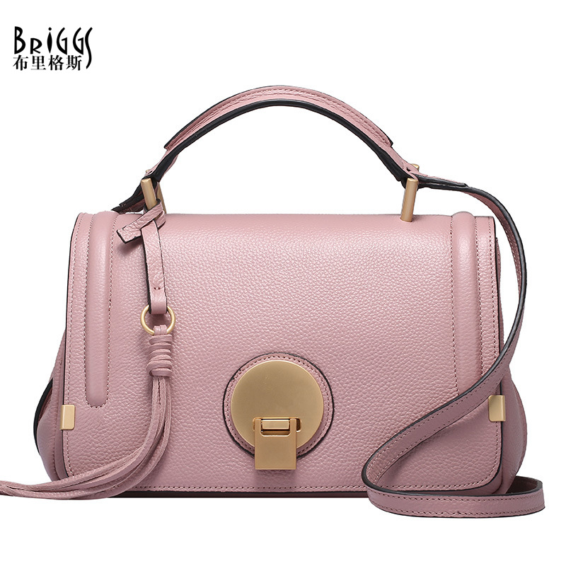 BRIGGS Cow Genuine Leather Bags For Women Designer Handbag High Quality Ladies Shoulder Messenger Bags Satchels Bolsa Feminina(China (Mainland))