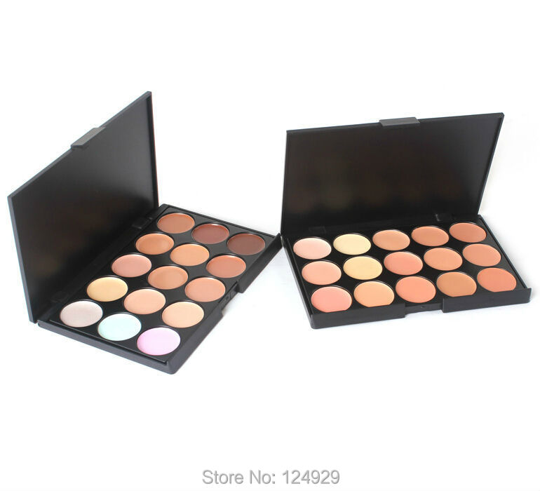 2 Styles Available! Professional Makeup Concealer Face Foundation Cream Camouflage Cosmetic Palette 15 Colors Kit Set - liao zhaofu's store