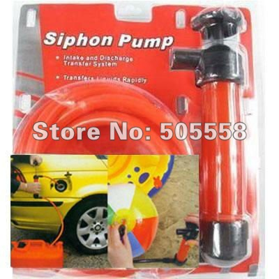 Tire Water Oil Pump Device, Oil Change Transfer Siphon Pump Kit Gas Pipe