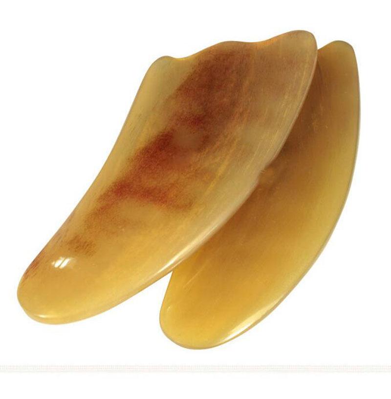 1Pcs Natural Ox Horn Body Gua Sha Tools Scraping Health Care Guasha Massage Pad Neck Back Head Massager Face Body Therapy Tool