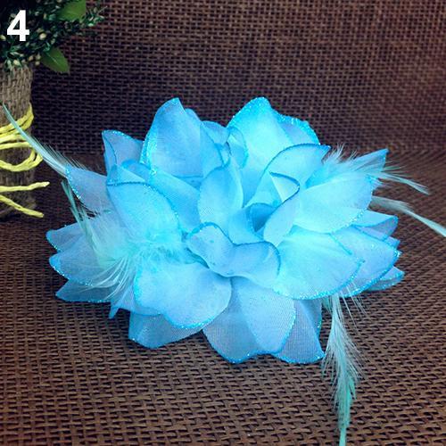 Popular Bridal Wedding Party Flower Fascinator Elastic Pin Hair Wrist Corsage Brooch Headband(China (Mainland))