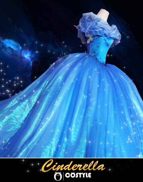 Hot Sale ! 2015 New movie Cinderella Princess Dress Gorgeous Costume cosplay halloween costumes for women with 12 layerОдежда и ак�е��уары<br><br><br>Aliexpress