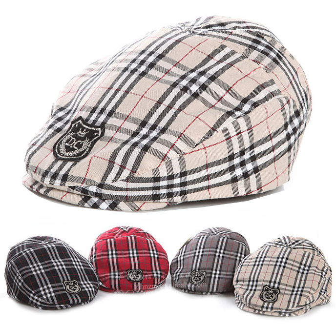 Hot Sale! 1 Piece Retail Free Shipping Simple Stripe Design England Style Baby Hat Boy Cap For Child Girl Beret Kid Hat(China (Mainland))