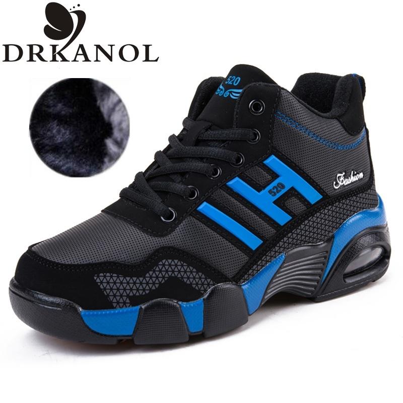 плюс размер 36-45 осень зима мужчины снег сапоги толстые плюша ботинки для женщин высокое качество теплой вскользь обувь botas
