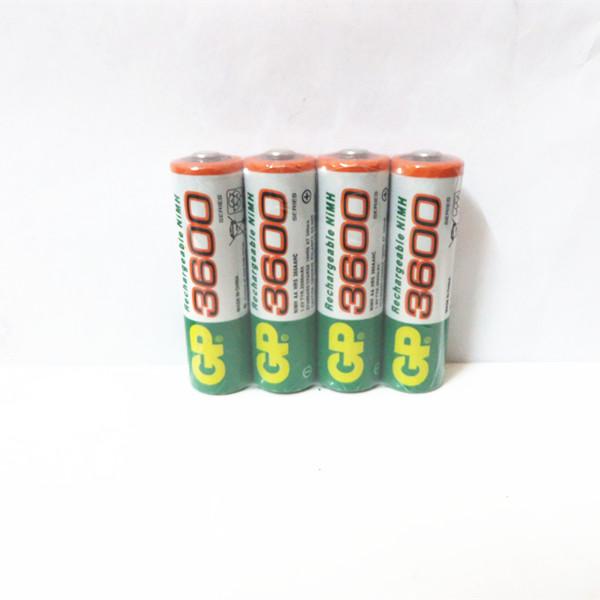 Brand New 2015 0riginal 4pcs/Lot GP 1.2V NiMh AA 3600 mAh Battery Rechargeable AA Batteries pilas recargables free shipping(China (Mainland))