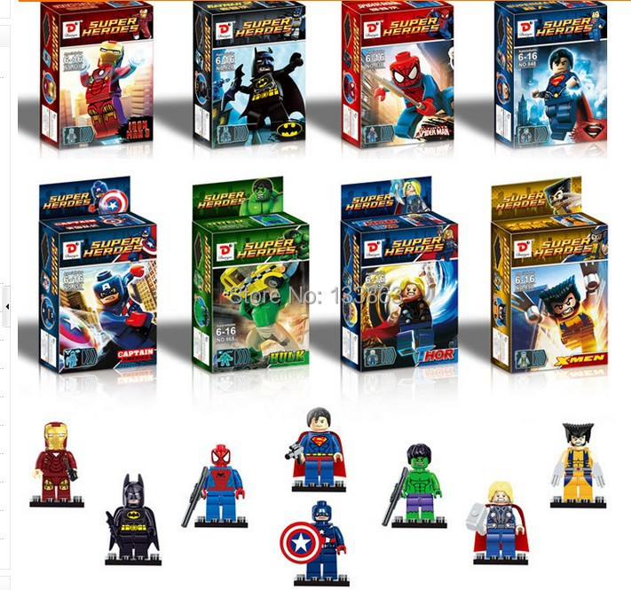 Super Hero Toys For Boys : Wholesale for sets mini super hero the avengers figures