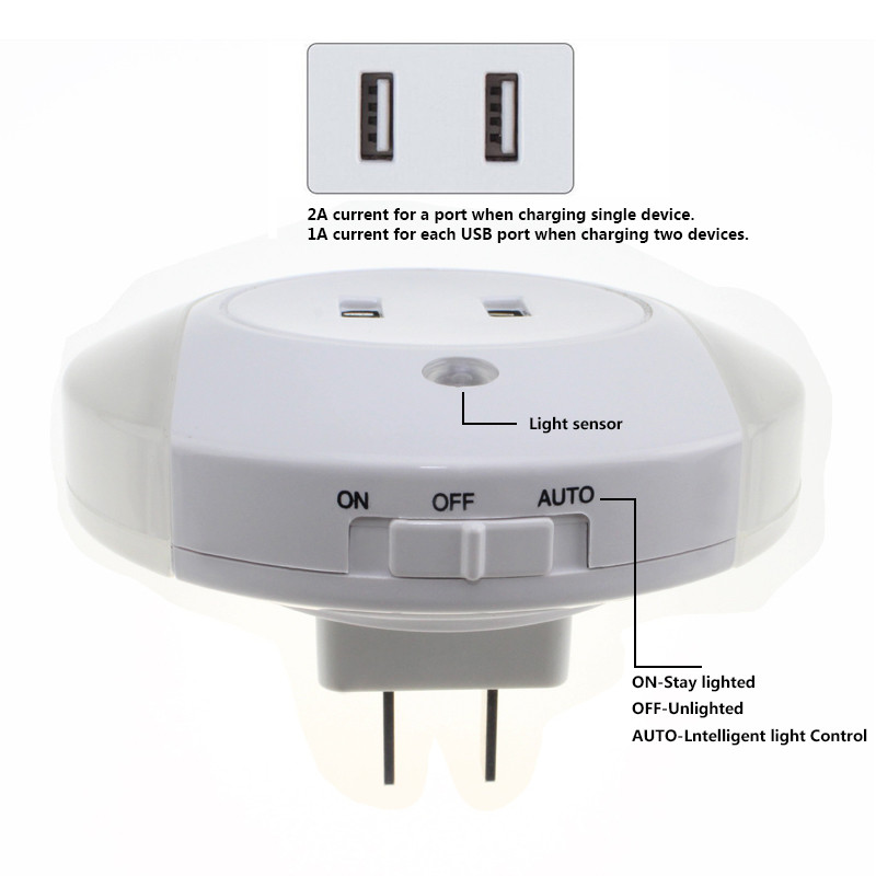 Wall Lamp With Usb : dual usb charger wall Picture - More Detailed Picture about EU/US Plugin Wall Lamp Dual USB ...