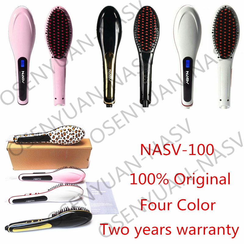 24 hours ship!Hot Combs Electric Fast Hair Straightener Comb LCD Iron Brush Auto Hair Massager Tool Electric Straightening Comb(China (Mainland))