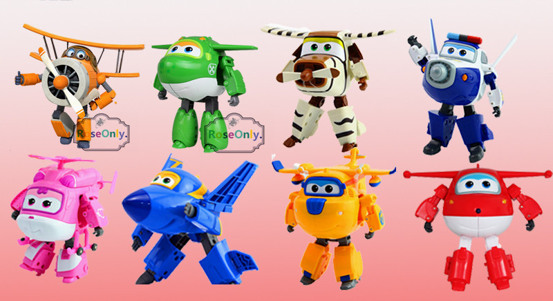New Arrival 12CM Super Wings Toys Mini Planes Transformation robot Action Figures Toys For Christmas gift(China (Mainland))