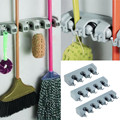 Popular Kitchen Wall Mounted Hanger Storage Rack 3 5 Position Kitchen Mop Brush Broom Organizer Holder