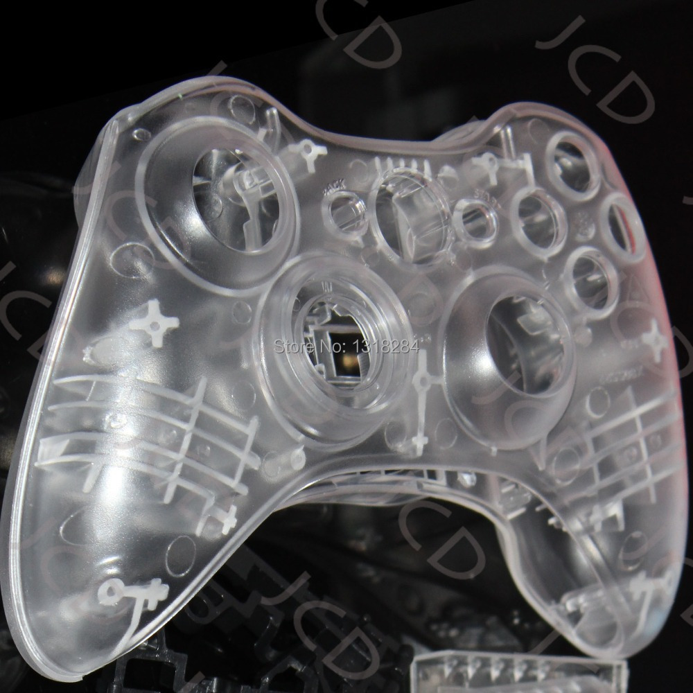 for Xbox 360 CLEAR Full Controller shell case housing  Includes Thumbsticks Cap<br><br>Aliexpress