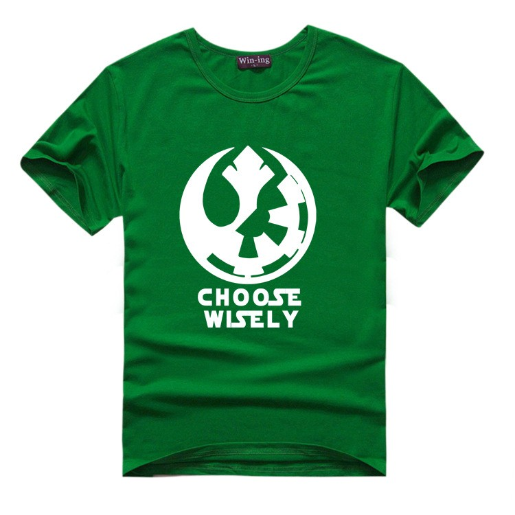 "New "" Choose Wisely "" Star Wars Galactic Empire Rebel Alliance Print T-shirt Cotton Unisex Sun Tee Shirts Teen Loose Homme Tops  HTB1CHZULVXXXXXaXXXXq6xXFXXXV"