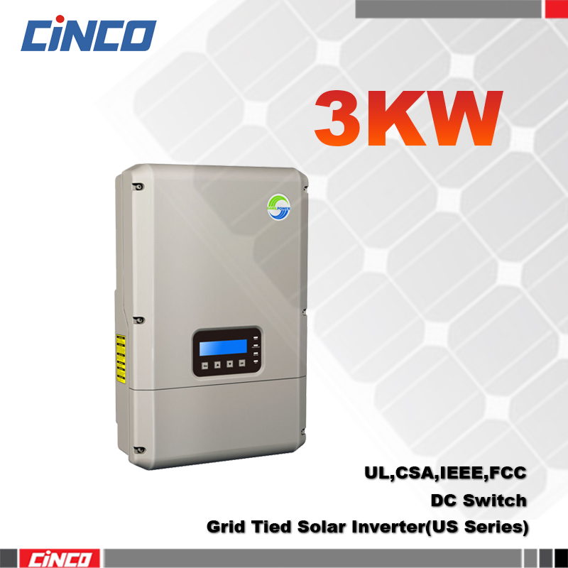 SolarRiver3000TLA-US, Grid tied inverter 3KW 208V/240V 60HZ, Single MPPT connected grid for solar home system for USA market(China (Mainland))
