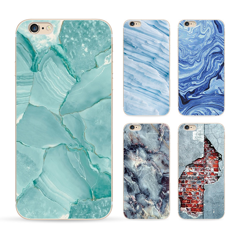 2016 Special Offer Phone Cases For Iphone 6 6s Case Marble Stone Image Painted Cover Mobile Bags & Brand New Screen Protector(China (Mainland))