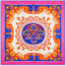 Chinese style element ladies' silk scarves flowers pattern digital print women silk shawl new 2017 charm design scarf 130*130(China (Mainland))