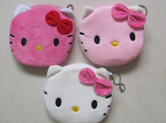 30PCS HELLO KITTY Plush Mini Coin Purse & Wallet Pouch Bag Case ; Pendant Storage Chain Purse Bag Case Pouch BAG Wallet Handbag