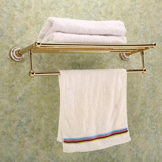 2015 real toallero towel holder porte serviette chauffant fashion gold towel rack rod bar. Black Bedroom Furniture Sets. Home Design Ideas