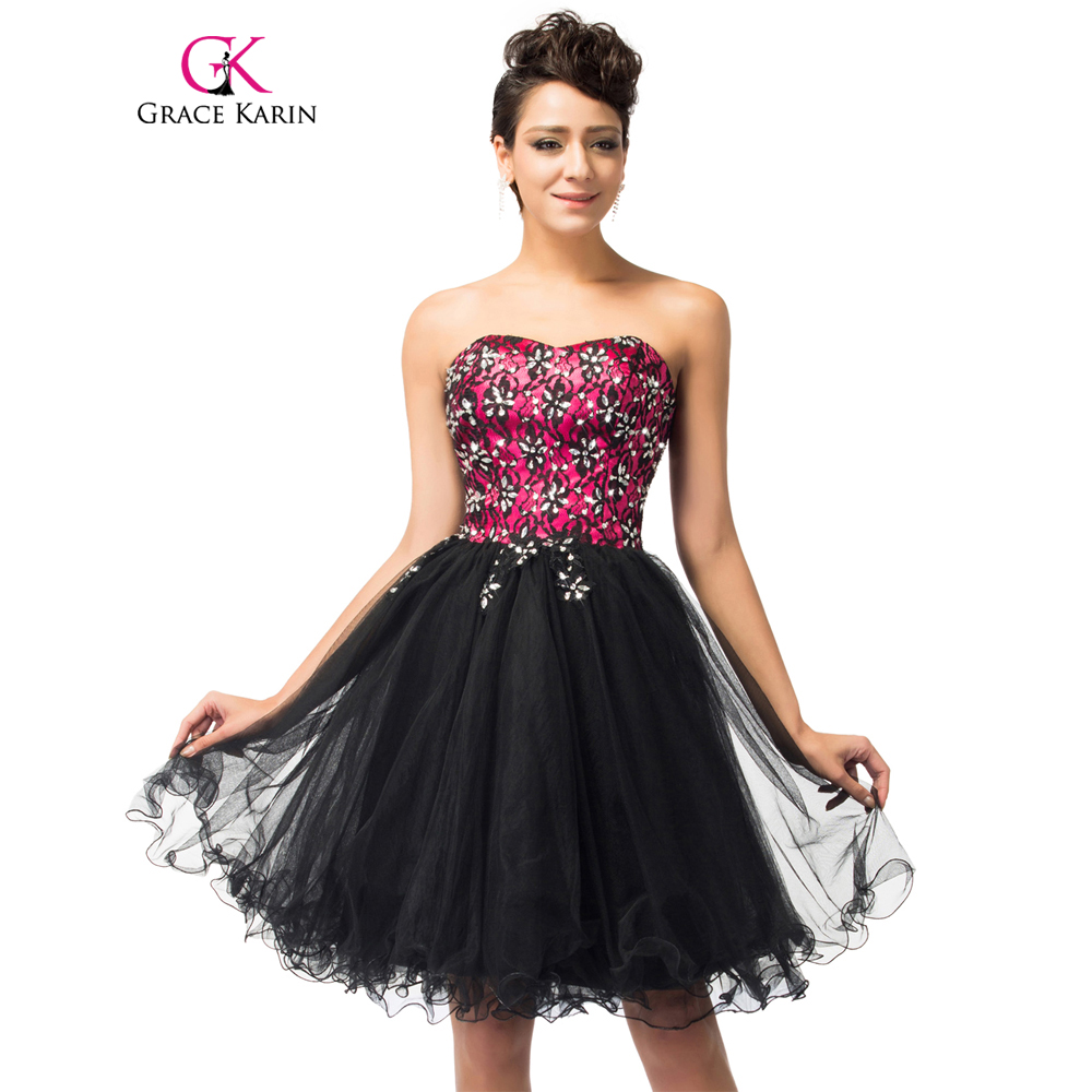 Latest grace karin sweetheart cute sexy short prom dresses for Cute short dresses to wear to a wedding