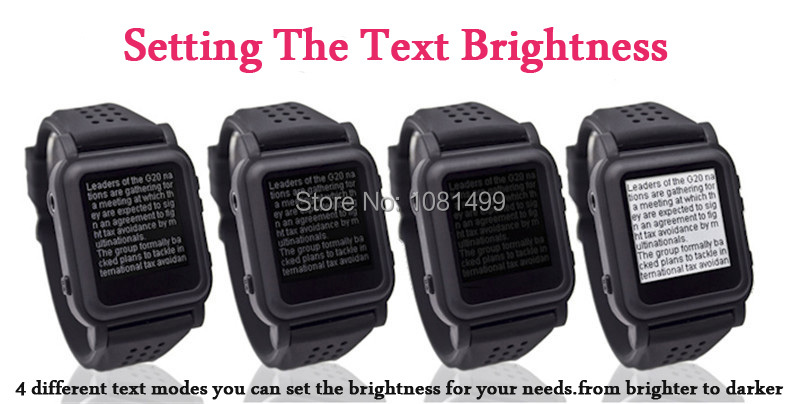 2016 New Arrival Free shipping MP4 Watch 8GB Memory eBook watch Support e-book reader Music player Different language