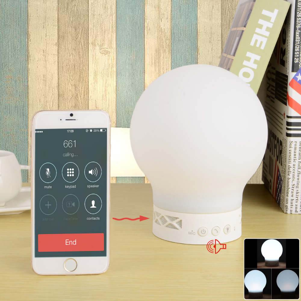 S10 Smart Rechargeable Bluetooth V4.0 Speaker Magic LED Lamp w/ Hands-free for phones table PC(China (Mainland))