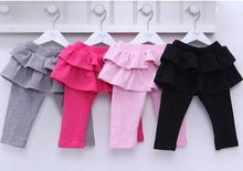 Baby clothing the new children leggings baby infant tutu bottoming culottes 100% cotton