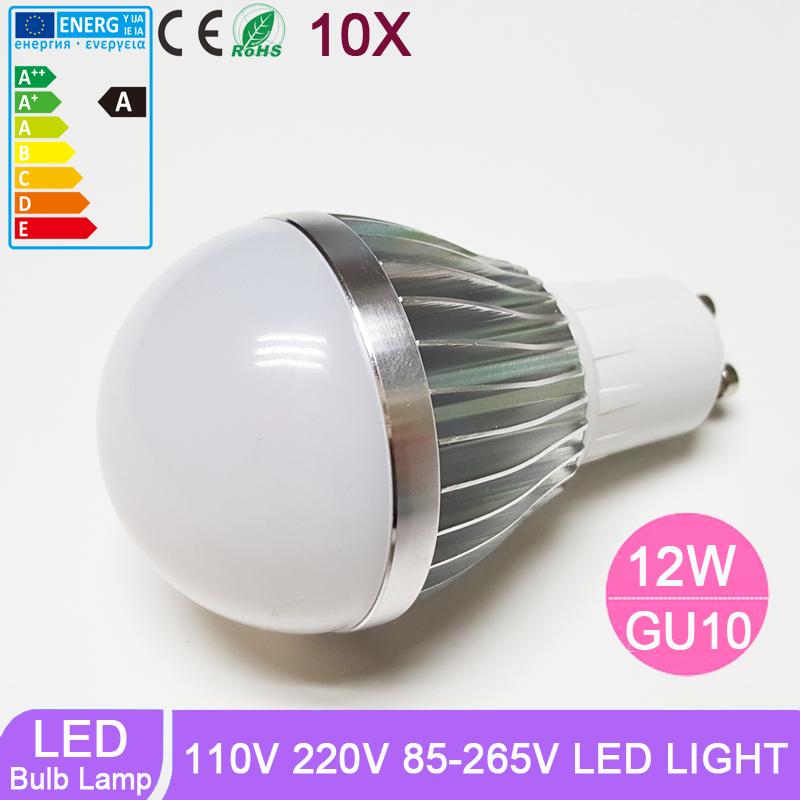 10pcs/lot LED Bulbs GU10 Globe Bulbs Lights 220V 110V 9W LED Light Bulbs Warm Pure White Super Bright Light Bulb Energy-saving<br>