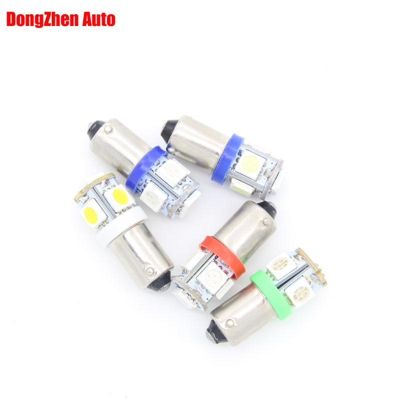 2X T11 BA9S White 5050 SMD 5 LED Car Light Bulb Lamp 12V 1895 57 T4W 182 1445 6253 H6W 53 Indicator License Plate Map Dome - DongZhen Technology Co., Ltd store